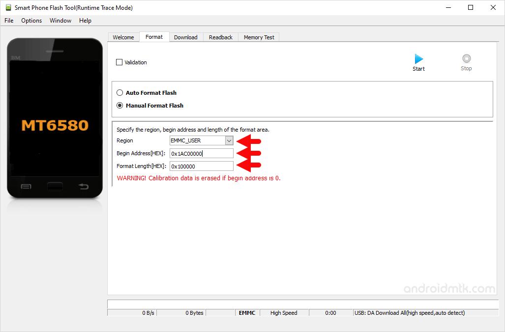 mt6580 0x1ac00000 0x100000 manual format parameter