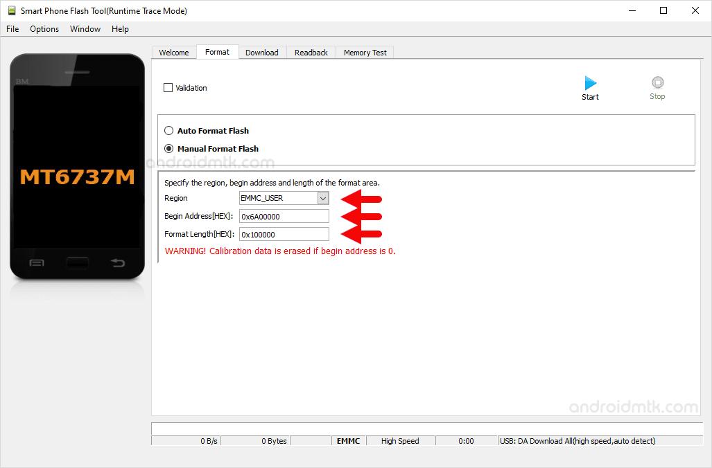 MT6737M 0x6A00000 0x100000 SP Flash Tool