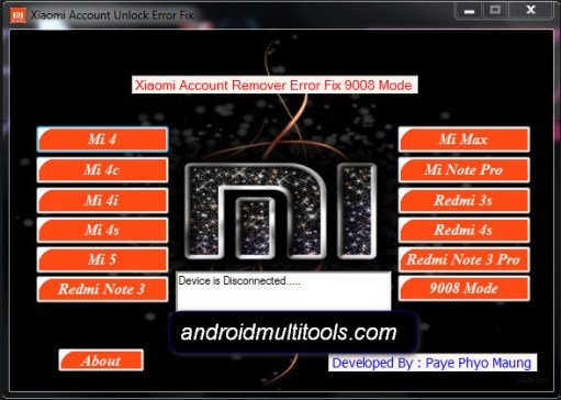 Xiaomi Account unlock Fixer Tool