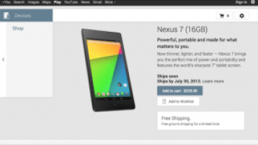 google-play-nexus 7 2013