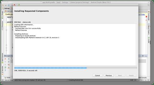 Android Studio Beta installing