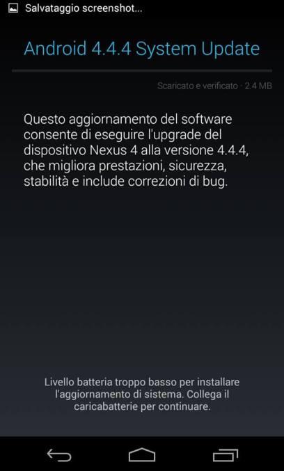 Nexus 4 Android 4.4.4