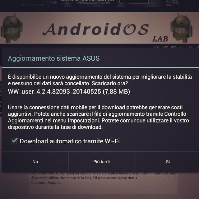 Update Asus MeMo Pad 7 (ME173X)