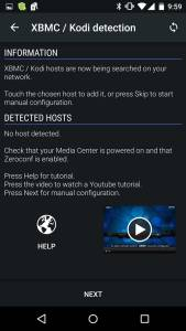 Kodi detecting hosts