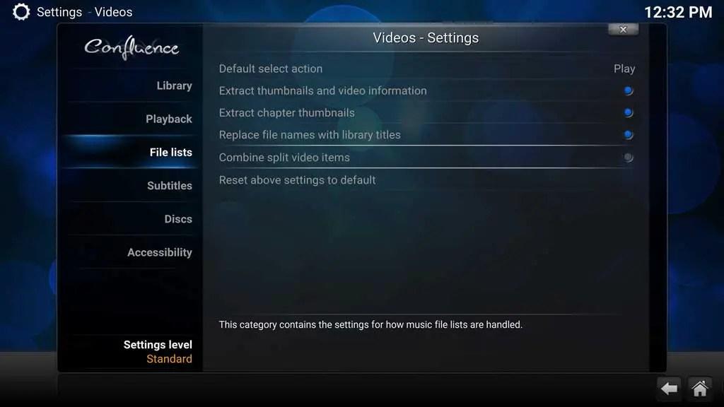 Kodi System Video Settings