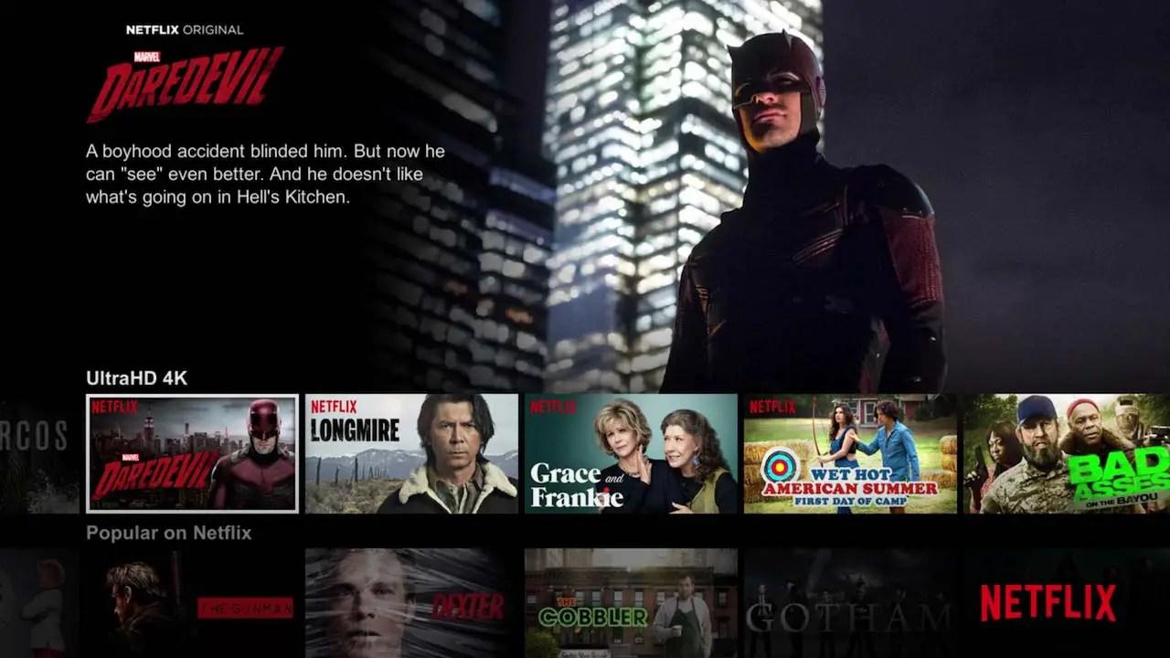 4K Netflix HD streaming