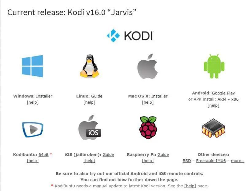 Download Kodi and install Kodi