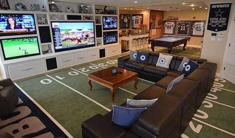 football-themed-man-cave