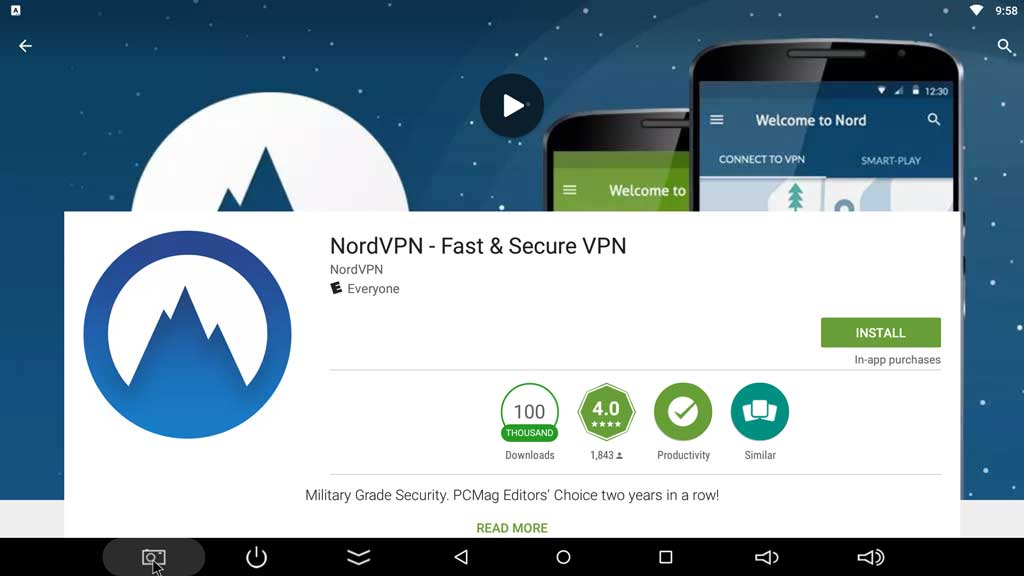 Download the NordVPN Android app from the Google Play Store