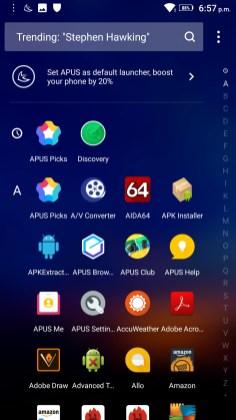 APUS Launcher Screenshots - Android Picks (2)