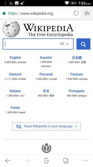 Microsoft Edge Screenshots - Android Picks (2)