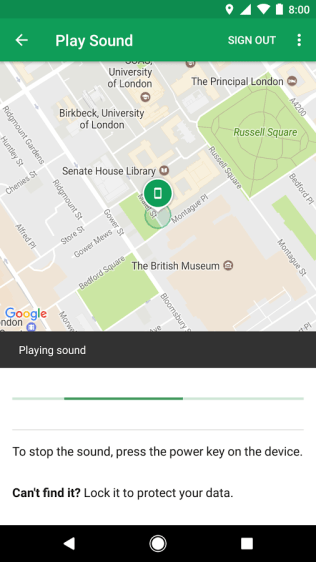 Find My Device Screenshots - Android Picks (2)