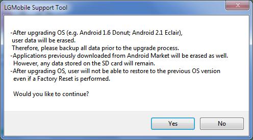 Unbrick LG Phone warning
