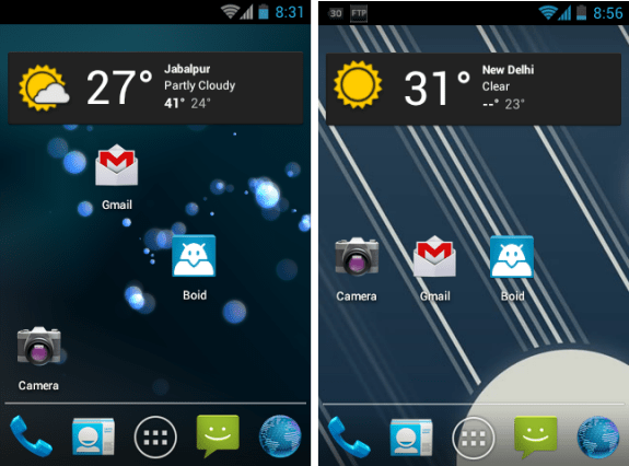 ICS home - Install Ice Cream Sandwich (Working Camera) on LG P500 [Cyanogenmod 9]