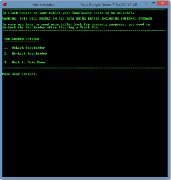Nexus 7 Unlock Bootloader
