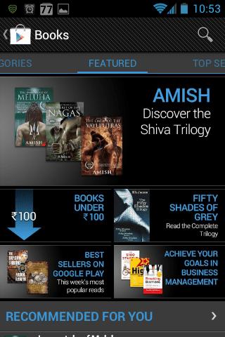 Google Books India Play Store
