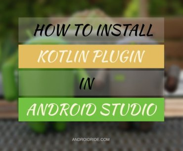 how to install or add kotlin plugin in android studio