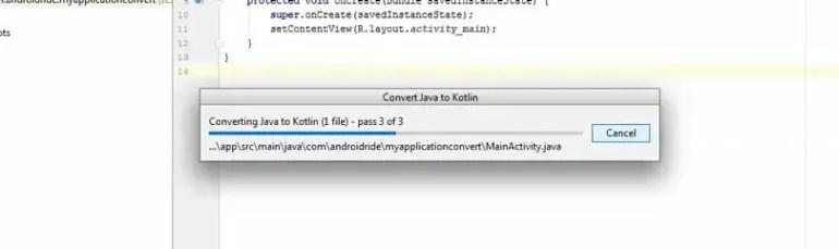 convert java class to kotlin android studio