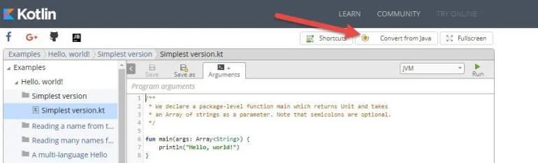 convert java code to kotlin online