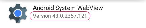android system webview version