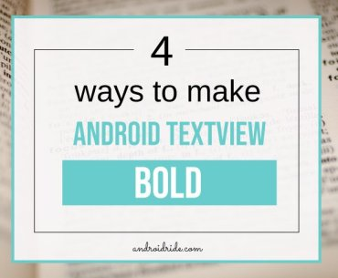 Android TextView Bold example