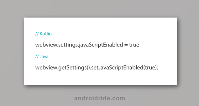 how to enable javascript in android webview