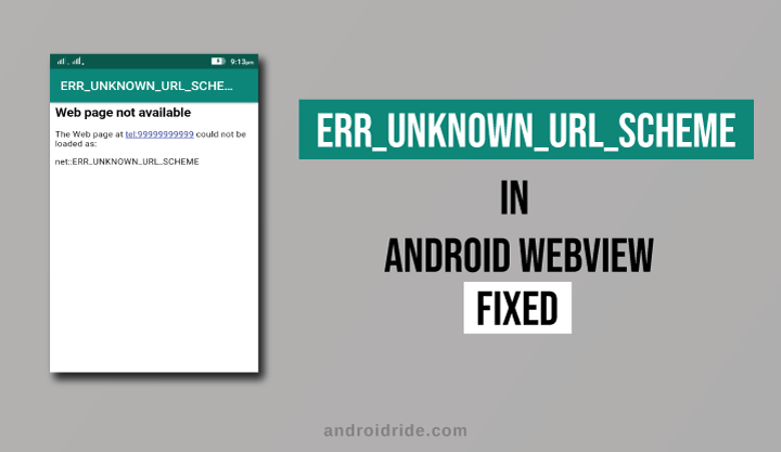 err_unknown_url_scheme in android webview fixed