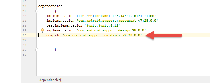 support library added to android studio