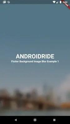 flutter bacground image blur backdropfilter
