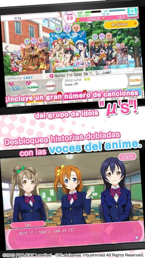 School idol festival Para Android - Captura