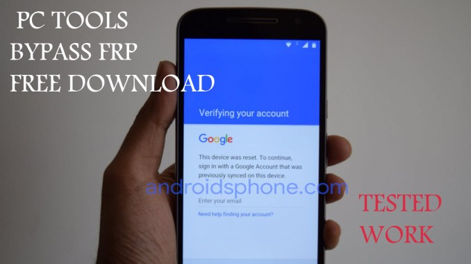 Download Tools PC FRP Bypass Tested Terlengkap