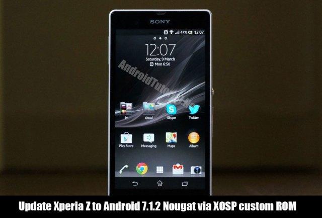 Update Xperia Z to Android 7.1.2 Nougat via XOSP custom ROM