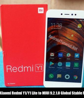 Update Xiaomi Redmi Y1/Y1 Lite to MIUI 9.2.1.0 Global Stable ROM