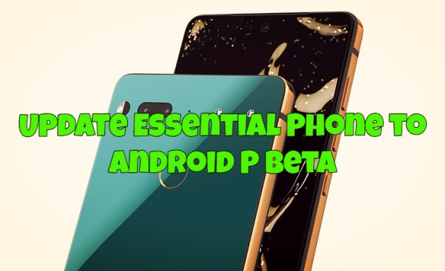 Install Android P Beta on Essential Phone