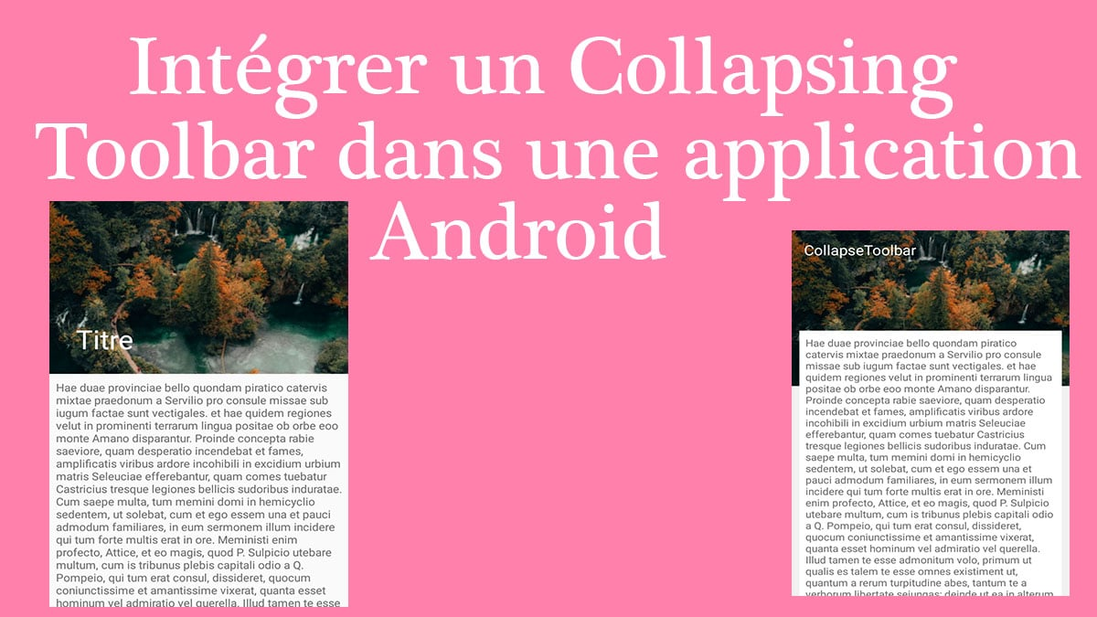 intégrer un collapsing toolbar dans une application android