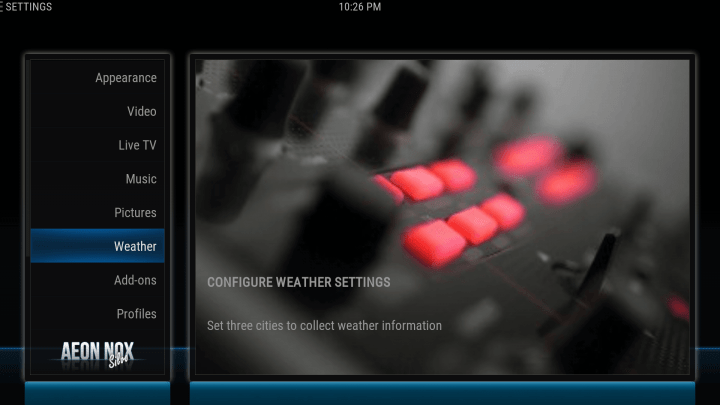 how to configure your weather location on kodi screen 2