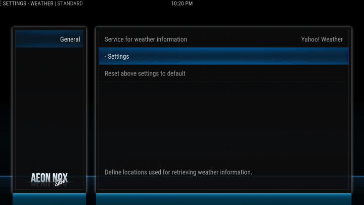 how to configure your weather location on kodi screen 3