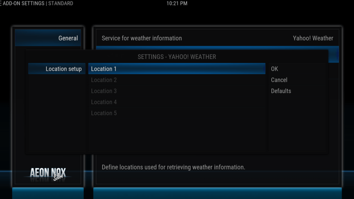 how to configure your weather location on kodi screen 4