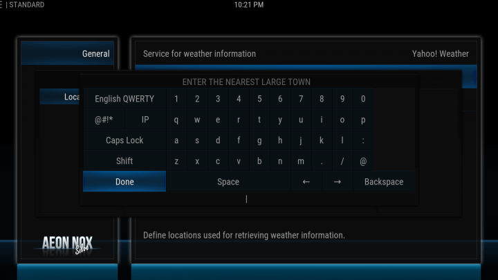 how to configure your weather location on kodi screen 5