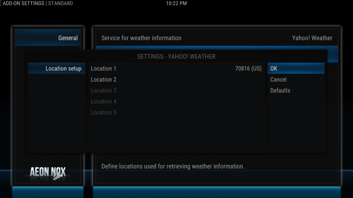 how to configure your weather location on kodi screen 7