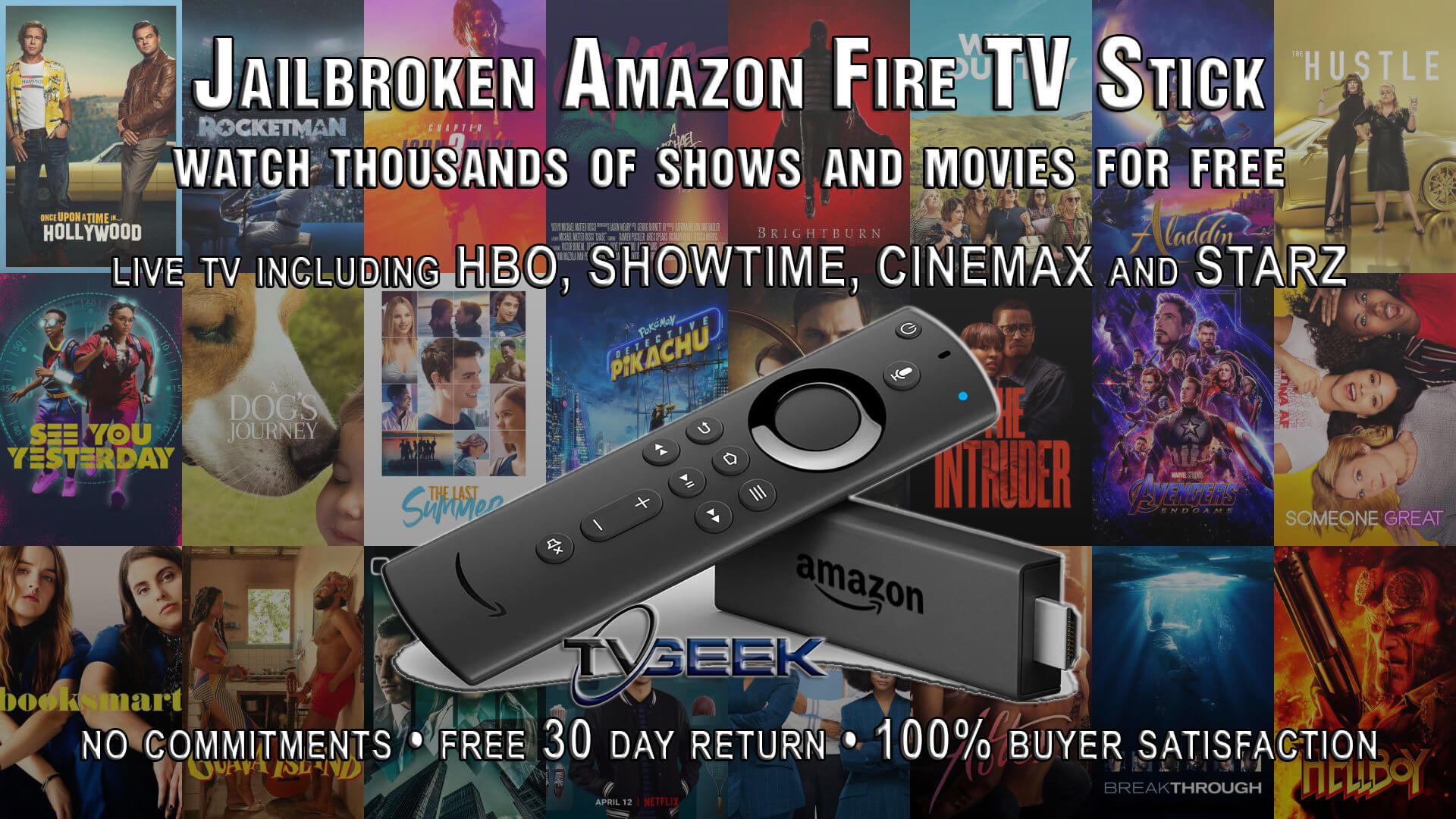 Jailbroken Amazon Fire TV Stick with Fully Loaded Kodi 18