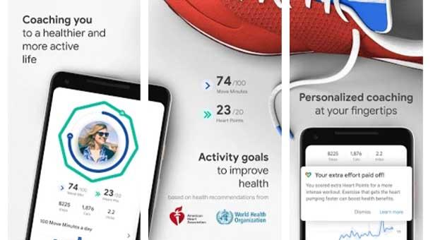 Sağlık, spor ve aktivite takibi uygulaması Google Fit