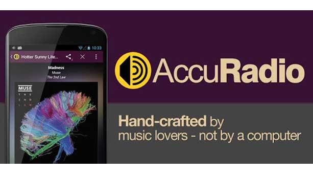android radio uygulaması AccuRadio