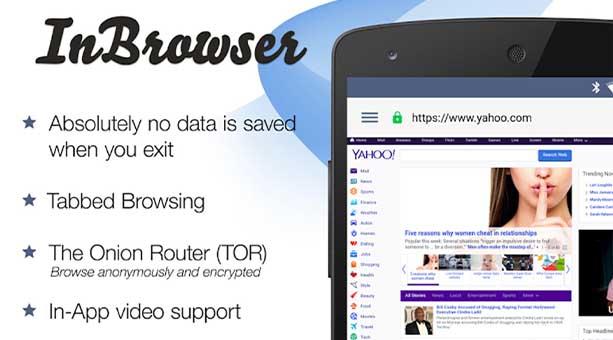 en güvenilir tarayıcı uygulamaları InBrowser 2020