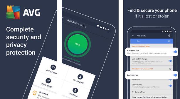 android virüs temizleme uygulaması AVG Antivirüs 2020