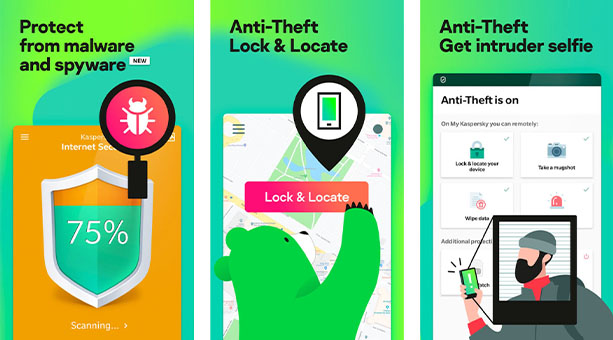 android virüs temizleme uygulaması Kaspersky 2020
