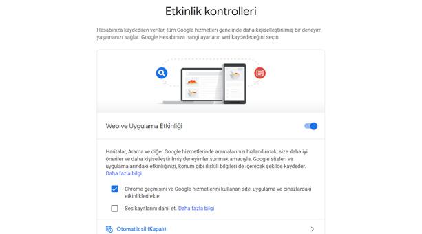 google geçmiş devre dışı bırakma 2020