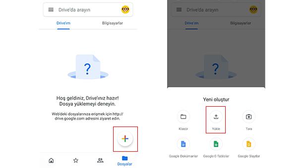 mobil için google drive yedekleme 2020