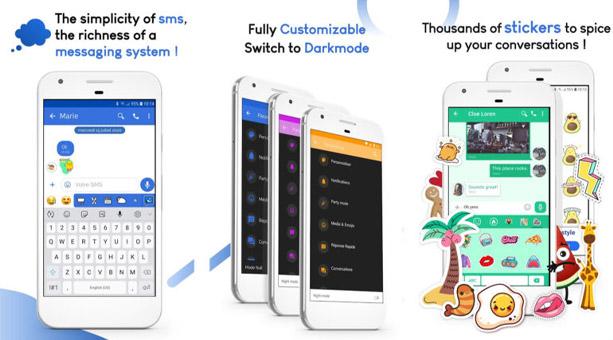 sms/mms uygulaması Mood Messenger
