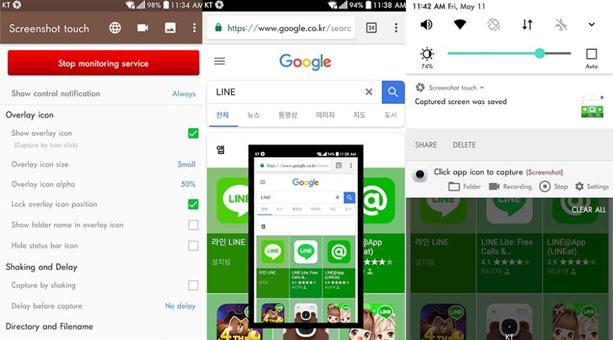 ekran görüntüsü alma uygulaması Screenshot Touch